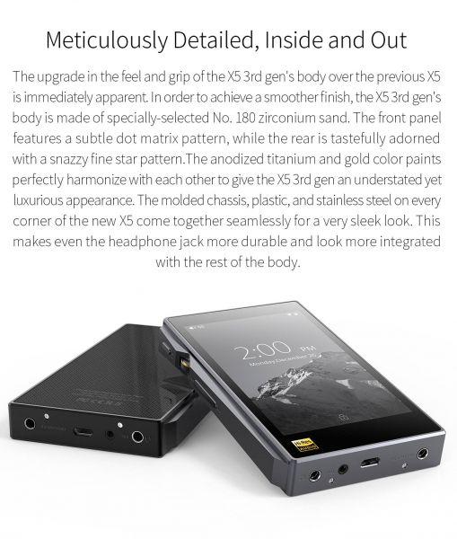 FIIO X5III- Hi-Rez Bluetooth Audio Player