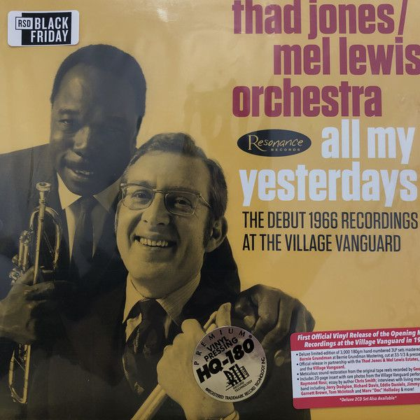 THAD JONES/MEL LEWIS ORCHESTRA-All My Yesterdays